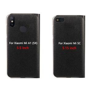 Image 2 - Virar Capa de Couro Caso de Telefone Para Xiaomi Mi 5X A1 Protetor Xiami Xiomi 5C Mi5C MiA1 Mi5X com Cartão de Crédito slot de Carteira de bolso