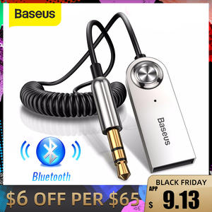 Audio-Transmitter Cable Jack-Dongle Car-Kit Bluetooth-Adapter Baseus Aux Handfree