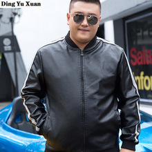 6XL 7XL 8XL 9XL 10XL Plus Size Men Faux Leather Moto Biker Jacket Mens Pu Lether
