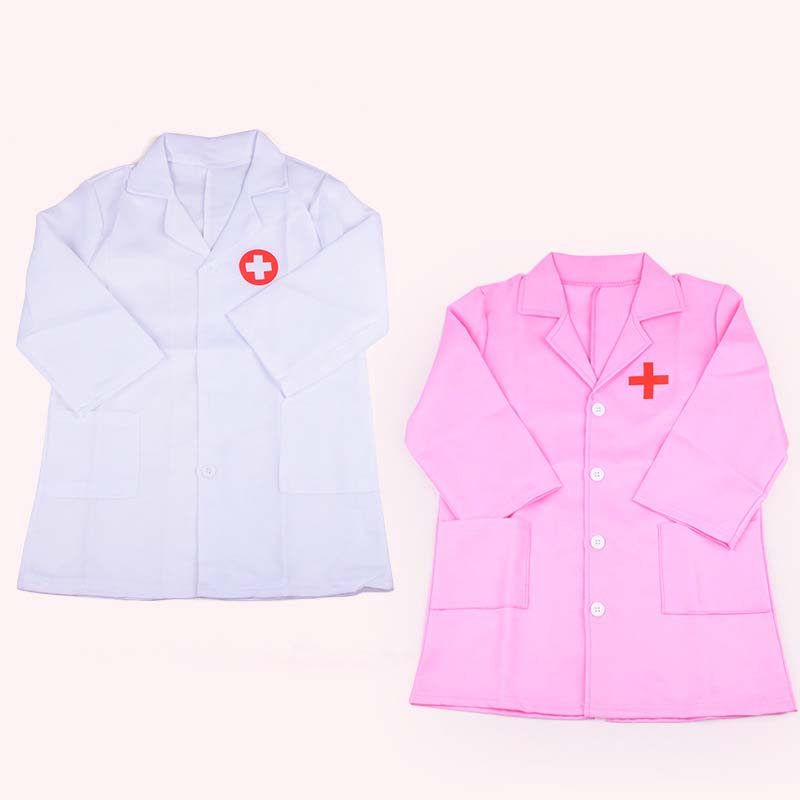 Toys Children Doctors Role Play Costume Nurse Overall Uniform Clothing Cosplay Dress Up Set Clothes High Quality