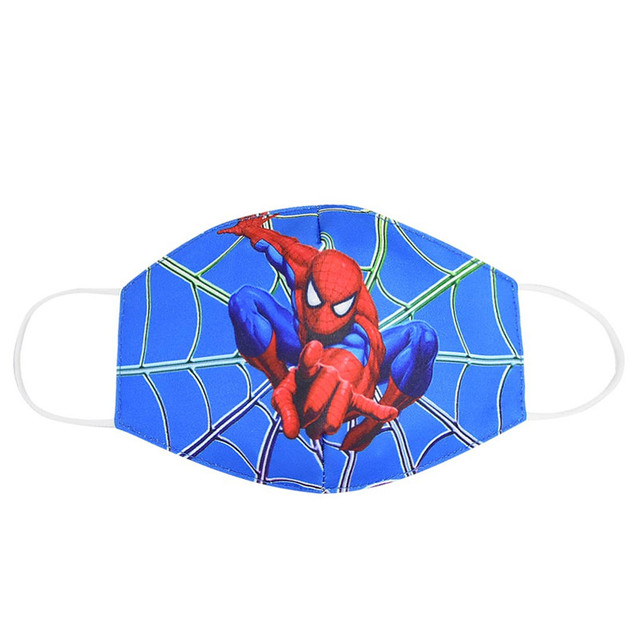 Spiderman Mouth Mask for Kids Adult Unisex Cartoon Face Breathable Cotton Windproof Anti-Dust Anti Pollution Reusable Masks 2