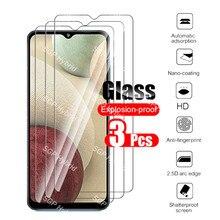 Para samsung a12 caso 3 pçs vidro temperado para samsung galaxy a12 a 12 vidro de proteção capa do telefone samsun sansung vidro