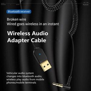 Image 2 - Bluetooth מקלט 5.0 רכב Bluetooth אודיו מקלט USB 3.5mm AUX שקע סטריאו Hifi רכב משדר רמקול אוטומטי אלחוטי מתאם