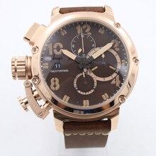 Men luxury watch rose gold sapphire glass U style Automatic