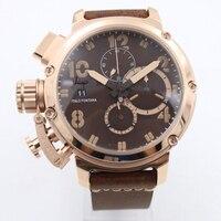 Men luxury watch rose gold sapphire glass U style Automatic Self Wind movement Luminous needles boat AAA+