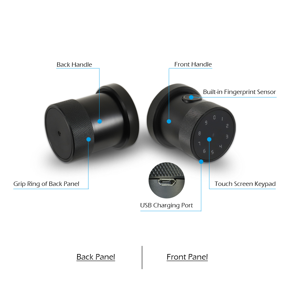 Image 2 - Bluetooth TT lock App Biometric fingerprint door lock  Waterproof wifi Digital RFID Electronic Code Keypad smart door lock-in Electric Lock from Security & Protection