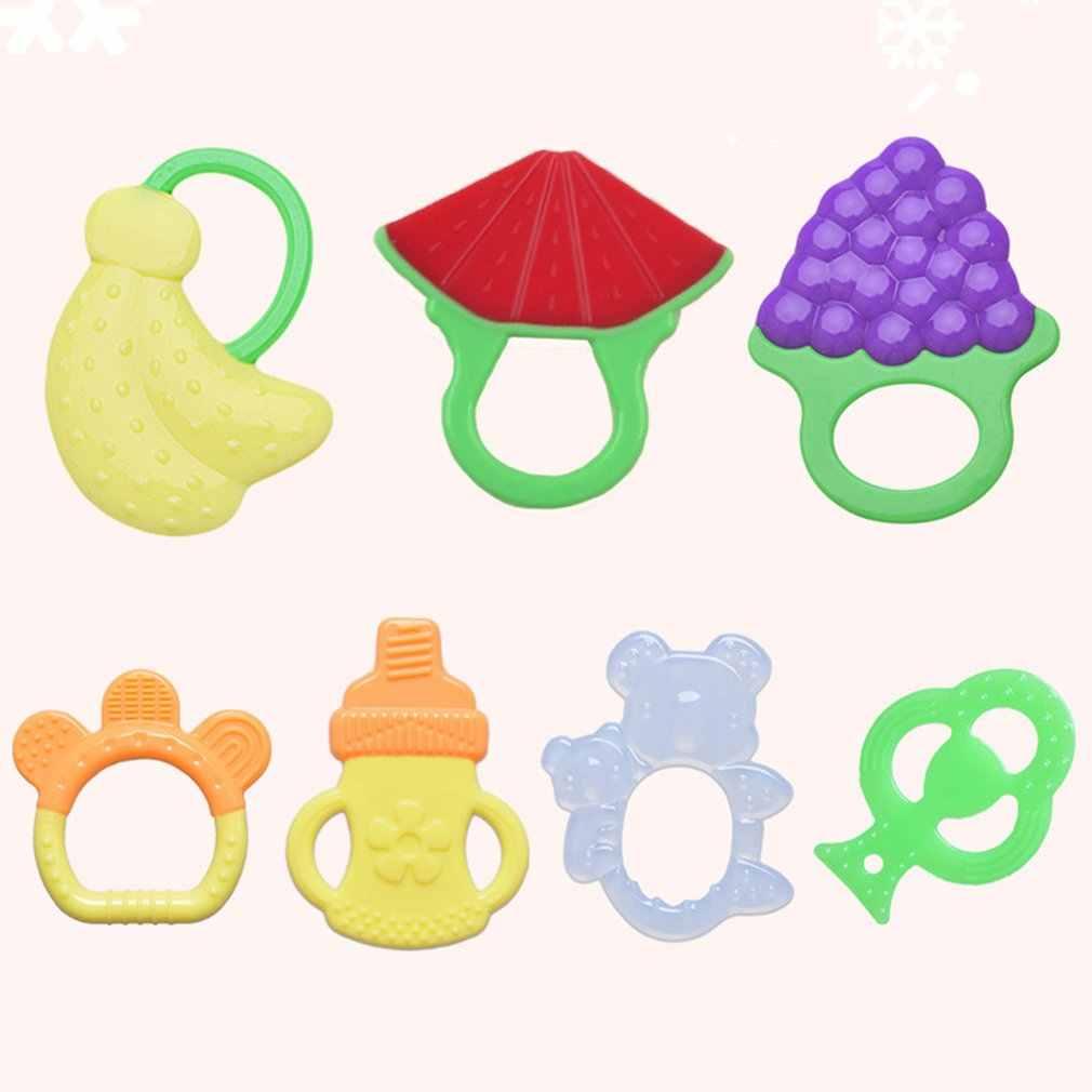 Bonito dos desenhos animados mordedor bebês dentição brinquedo bpa livre mordedor de silicone macio seguro mastigar brinquedo do bebê dentes soother