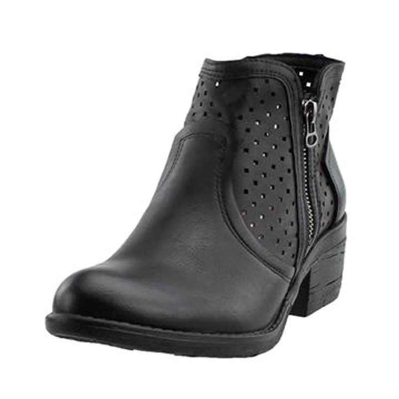 Oeak 2019 Fashison Frauen Stiefel Rutschen Auf Frauen Kausal Stiefeletten Plattform Schuhe Frau Gummi Wohnungen Plus Größe 35- 43 Botas Mujer