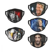 Johnny Hallyday Non-Disposable Mouth Face Mask French Singer France Anti Haze Dustproof Protection Cover Respirator Mixed Muffle