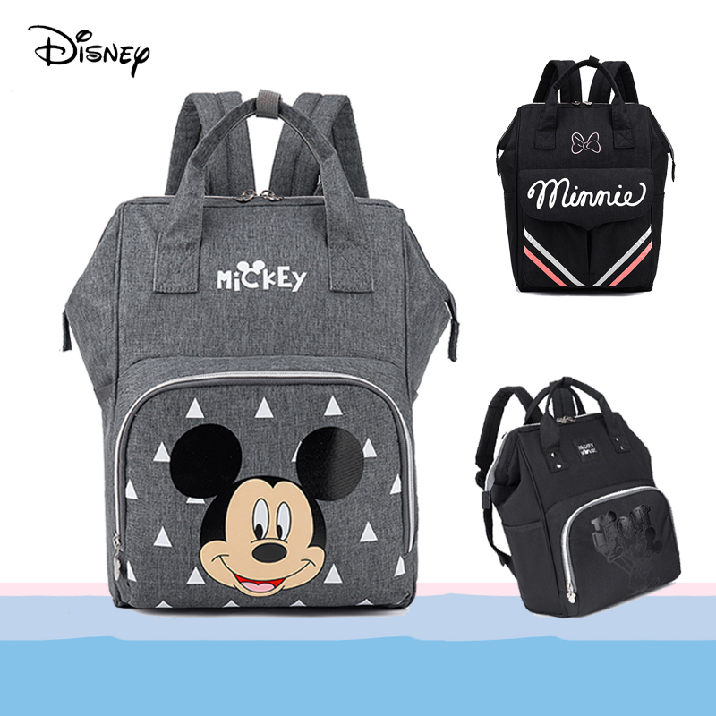 2020 Disney Baby Bag For Mom Diaper Bag Maternity Changing Bag With Hooks Mickey Minnie Mouse Bag For Mom Travel Nursing Bag