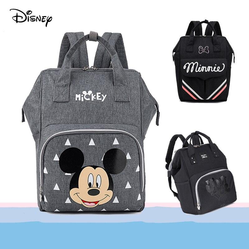 Sac à couches pour maman | Sac bébé Disney 2020, sac à langer de maternité avec crochets, sac de soins infirmiers pour maman Mickey Minnie Mouse, sac de voyage