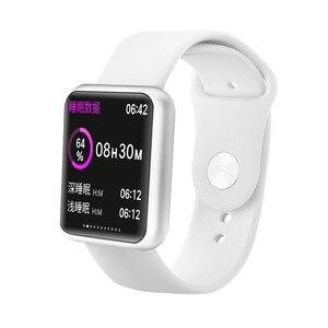 Image 1 - Homme femme montre intelligente Bluetooth Smartwatch étanche pour Apple montre IPhone Android montre moniteur de fréquence cardiaque Fitness Tracker