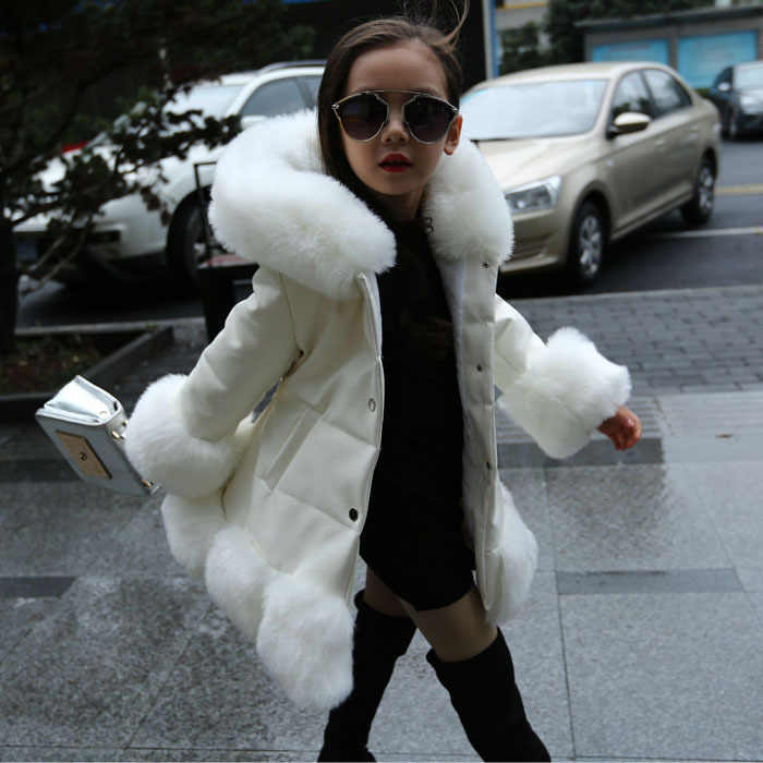 Mode Baby Winter warme Oberbekleidung & Mäntel kinder Fell Lange Mädchen pelzmantel Kinder Faux Pelz Kleidung pelzmantel