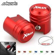 XMAX Motorrad Reifen Ventil Kappen Air Port Stem Umfasst CNC Aluminium Zubehör für Yamaha XMAX 125 250 300 400 Alle jahr