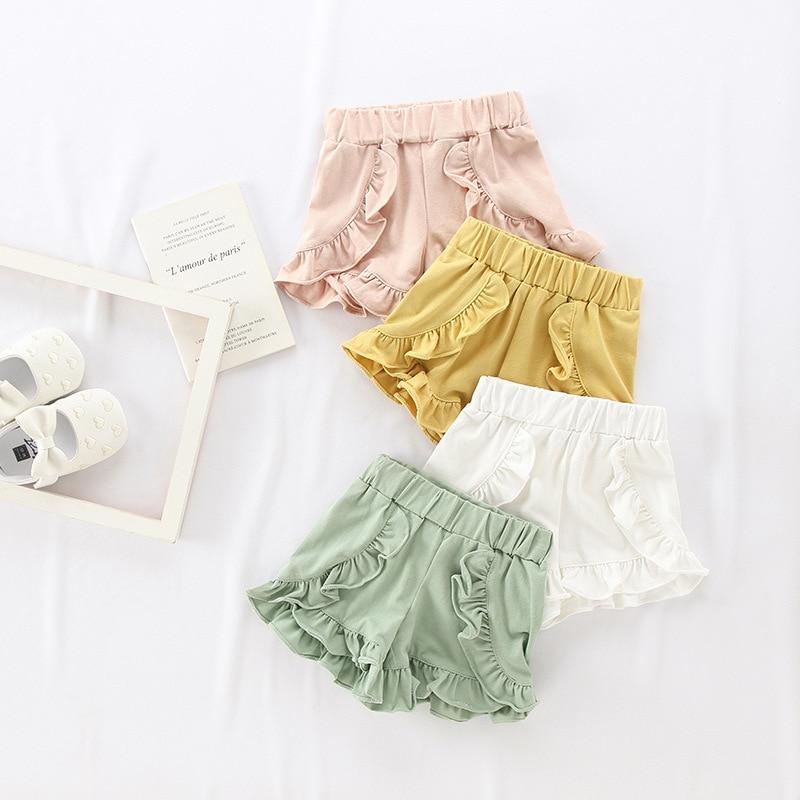 2020 Summer Baby Shorts Kids Shorts For Girls Toddler Short Girl Candy Color Cotton Elastic Pant шорты для мальчика хлопок