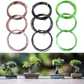 9 Rolls Bonsai Wires Anodized Aluminum Bonsai Training Wire with 3 Sizes (1.0 Mm,1.5 Mm,2.0 Mm),(Black+ Green+Rose Gold) 9 rolls bonsai wires anodized aluminum bonsai training wire with 3 sizes 1 0 mm 1 5 mm 2 0 mm total 147 feet brown