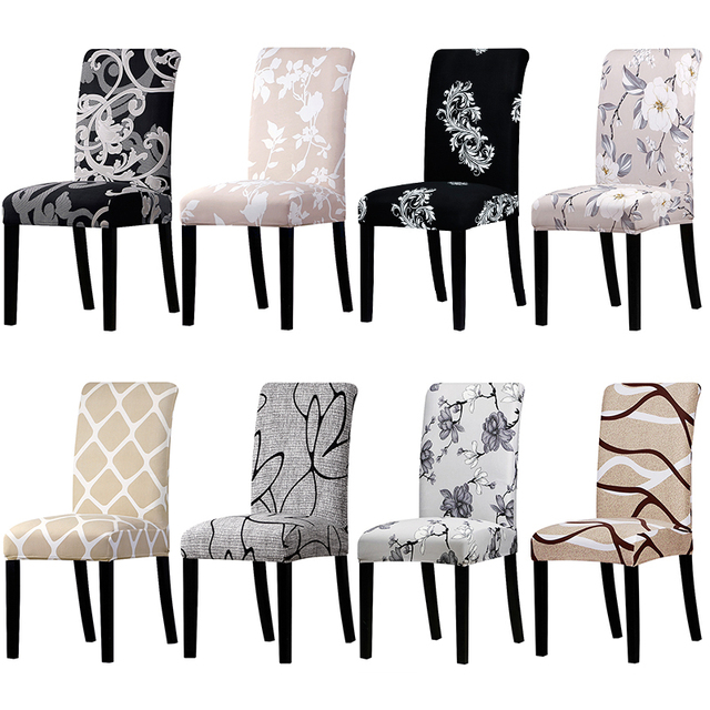Colorful Patterned Elastic Chair Cover 1