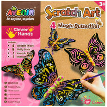 4pcs Scratch Sheets Butterflies Art Paper Magic Painting Paper With Pen Shilly Stick Toy Creative Color Drawing Toy Gift for Kid(China)