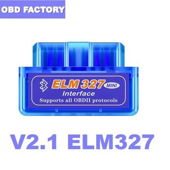 V2 1 ELM327 OBD2 skaner ELM 327 OBD ELM327 V2 1 interfejs diagnostyczny v2 1 OBD2 Bluetooth ELM327 V2 1 dla androida PC tanie i dobre opinie Kable diagnostyczne samochodu i złącza universal car models EOS020 0 035KG always in stocks