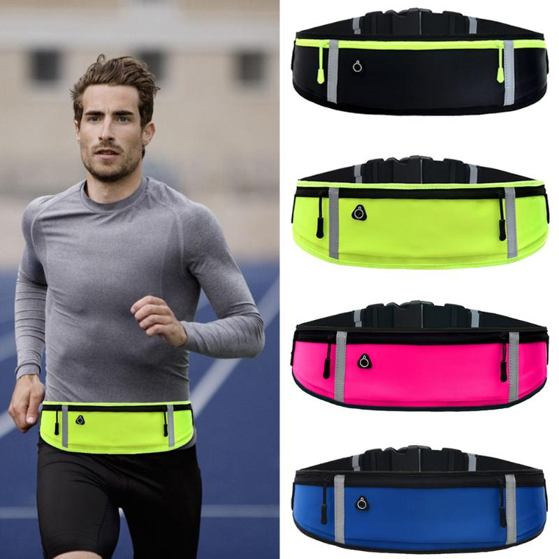 Sports Waist Bag Outdoor Running Phone Bag Waterproof Non-slip Phone Container Anti-theft Reflective Belt Pouch Gym Fitness Bag