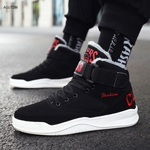 цена Mens Snow Boots Winter Warm Men Shoes Fashion Comfortable High Top Outdoor Sneakers Men Boots With Fur Flat Winter Shoes z335 онлайн в 2017 году