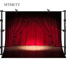 MTMETY Theater Party Crimson Curtains Wooden Floor Photography Backdrop Stage Light Background Vinyl Photo Booth Backdrop x-25 moon white cloud vinyl photography background night sky oxford backdrop for children photo studio free shipping