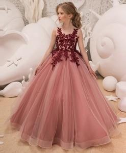 Image 3 - Mädchen Hochzeit Kinder Kleider Für Mädchen Party Kleid Spitze Prinzessin Sommer Teenager Kinder Prinzessin Brautjungfer Kleid 8 10 12 14 jahre