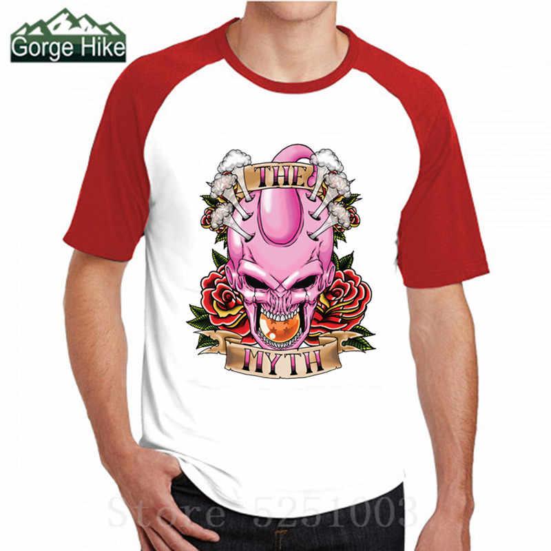 Футболка с 3D-принтом Dragon Ball в стиле хип-хоп мужские футболки с изображением мифа Majin Buu Мода 2019 года, летняя мужская футболка с длинными рукавами и круглым вырезом