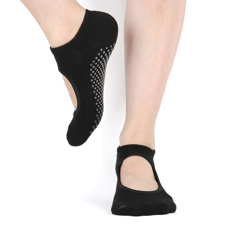 Women Backless Anti Slip Yoga Sock For Woman Breathable Socks Ladies Sport Ventilation Pilates Ballet Dance Foot Scoken
