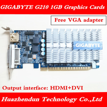 GIGABYTE-tarjeta gráfica G210, 1GB, 64 bits, GDDR3, Original, n210, 1G, para nVIDIA,...