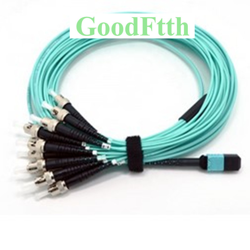 Волоконный патч корд кабель MPO ST OM3 12 ядер GoodFtth 1 15 м