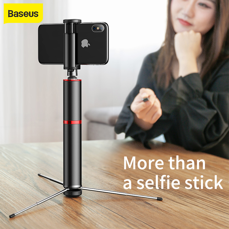 Baseus Wireless Bluetooth Selfie Stick Portable Handheld Phone Camera Tripod With Remote Control For IPhone Samsung Huawei