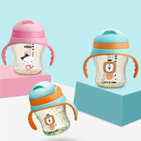 Anti Colic Baby Bottles Newborn Baby Bottles for Girls and Boys with Handle Wide Neck Bottles for Christmas Gift