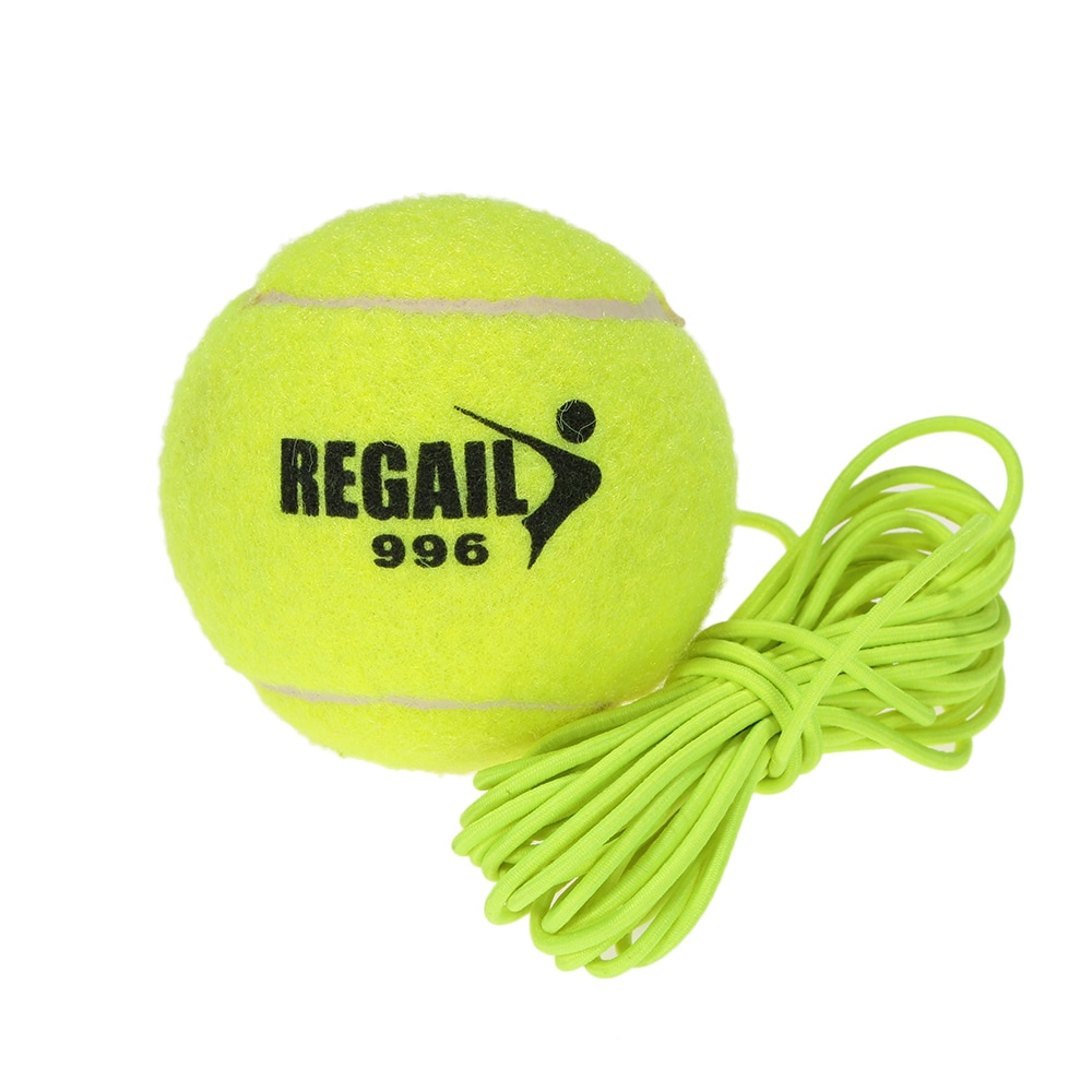 Durable Yellow Tennis Balls Tennis Trainer With String Sparring Device Trainers Sports Tournament Outdoor Fun Cricket Beach
