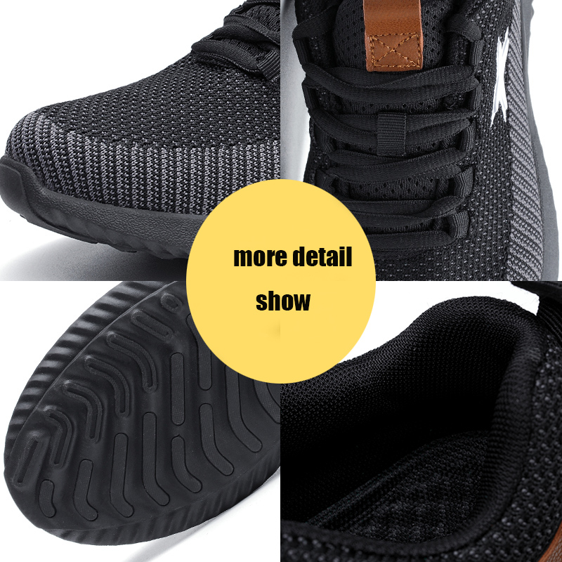 MWSC Safety Work Shoes For Men Steel Toe Cap Anti-smashing Working Boots Breathable Outdoor Construction Shoes Work Big Size 48 4
