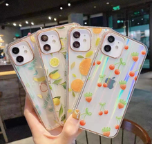 Summer Fresh Fruit Cherry Phone Case for iPhone 12 11 Pro Max 7 8 Plus X XR XS Max Cute Strawberry Clear Soft Tpu Back Cover