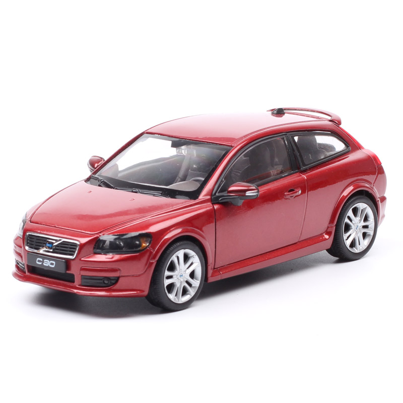 Children 1:24 Scale Welly Big Volvo C30 Hatchback Sports Coupe Diecasts & Toy Vehicles Metal Car Toy Model Miniature Gift Of Boy