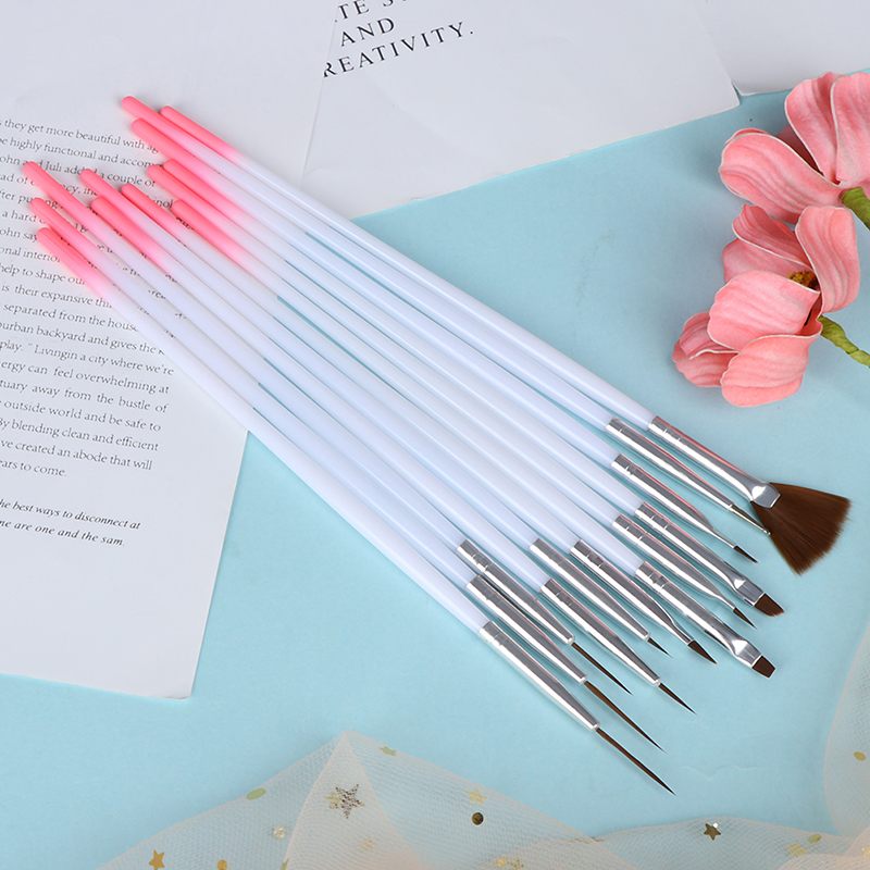 Useful Nail Brush For Manicure Gel Brush For Nail Art 12Pcs/Set Ombre Brush For Gradient For Gel Nail Polish Painting Drawing