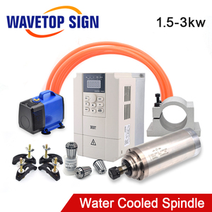 CNC Spindle 1.5kw 2.2kw 3kw Water Cooled Spindle Motor 220V 380V Inverter For CNC Milling Router Machine Tool Spindle Tools