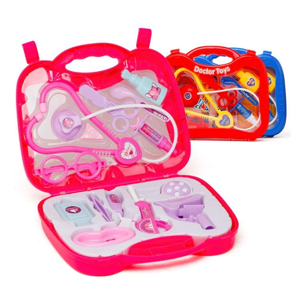 Kids Children Role Play Doctor Nurses Toy Medical Set Kit With Hard Carry Case