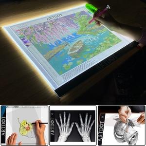Image 5 - A4 Led ライトパッドダイヤモンド塗装、 Usb 電源 5D ダイヤモンド刺繍アクセサリーライトボードツールキット