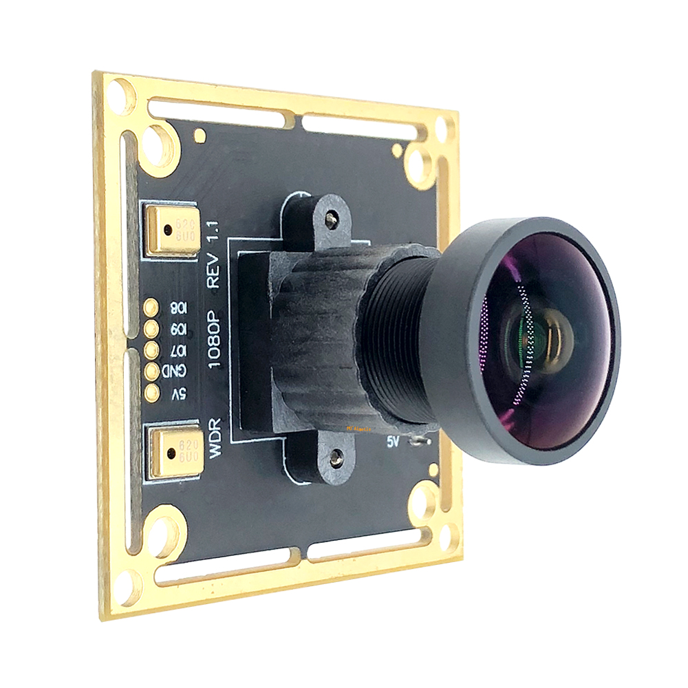 2MP Zero Distortio Webcam 170° Wide Angle Backlight Shooting Wide Dynamic OTG UVC 30FPS 1080P USB Camera Module Support Audio