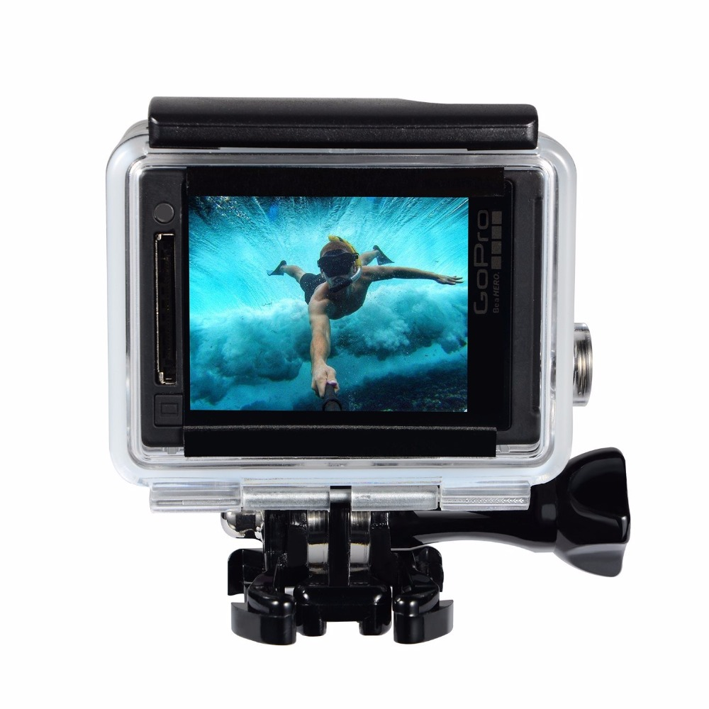 Suptig-For-Gopro-Waterproof-Housing-Case-For-Gopro-hero-4-Hero3-Hero-3-Underwater-Protective-Box