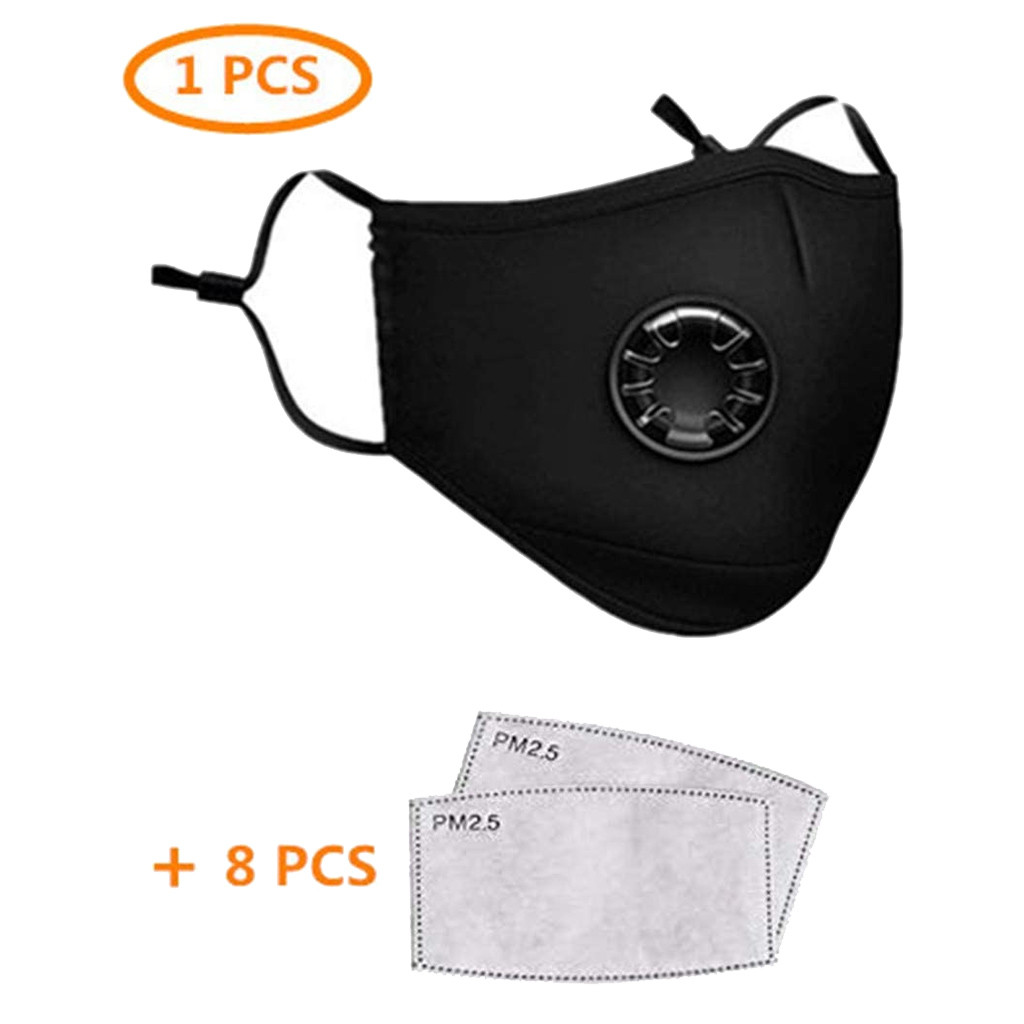 Dust Mouth Masks With PM2.5 Activated Carbon Filters Anti-dust Breathable Non-woven Face Mouth Masks Cover Washable Respirators