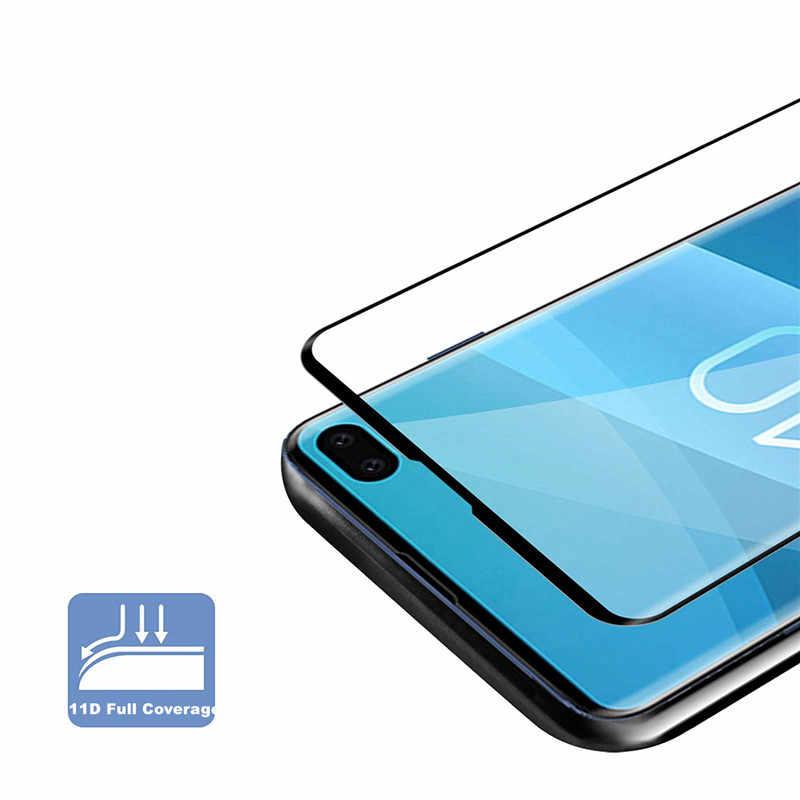 Curvo de Vidro Temperado Para Samsung Galaxy S10 11D Completo Mais S10E S9 8 S8 Além de Protetor de Tela Para Samsung Nota 9 Película protetora