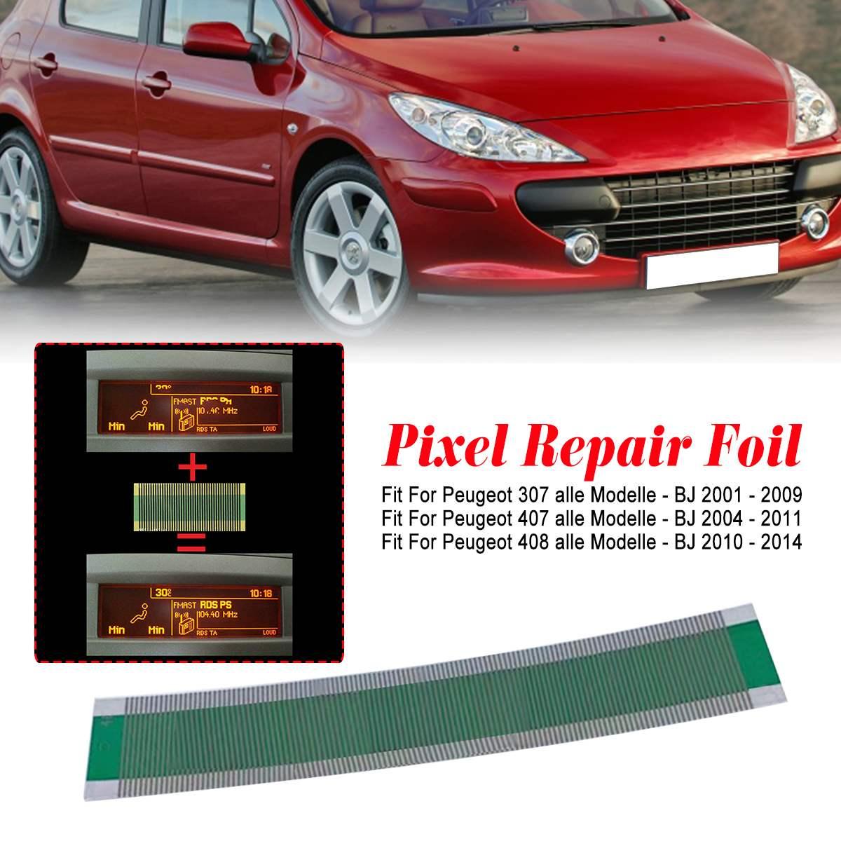 1Pcs Multi Info LCD Display Pixel Repair Foil Flat LCD Connector Dashboard Repair For Peugeot 307/407/408