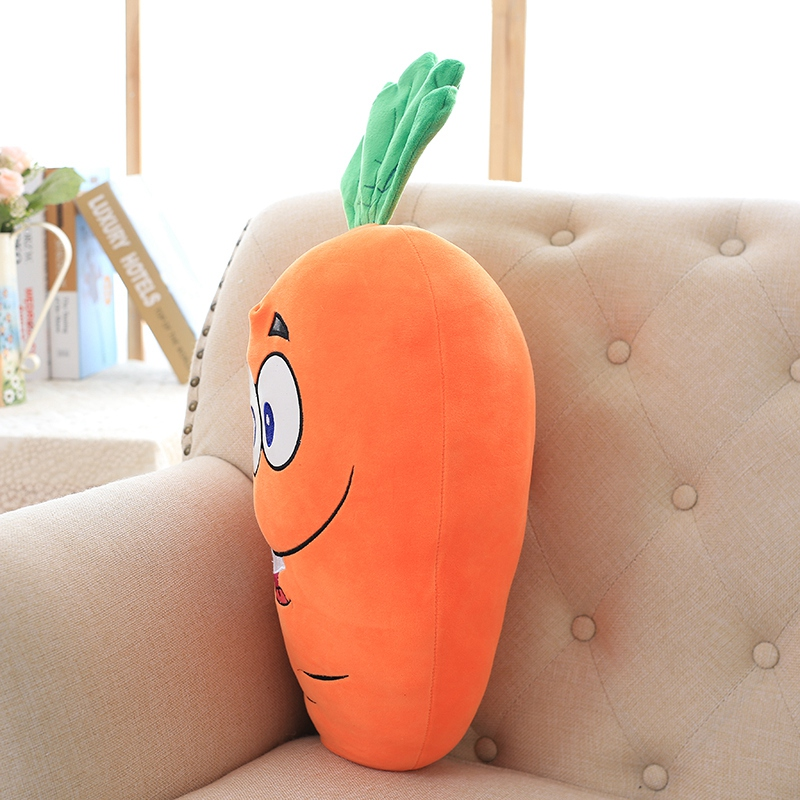 1pc 50cm Cretive Simulation Plush Toy Kawaii Emoji Carrot Stuffed With Down Cotton Super Soft Pillow Intimate Gift for Girl Kids in Stuffed Plush Plants from Toys Hobbies