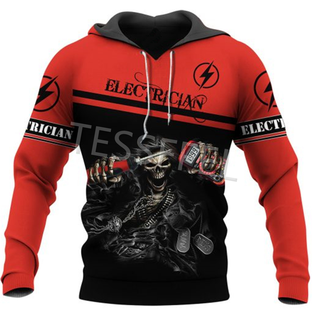 Tessffel Professional Electrician and Welder 3d Printed Hoodies Jacket Sweatshirts Zipper Casual Pullover Tracksuit Coat E2 4