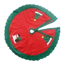 1Pc Tree Skirt Durable Practical Creative Chic Tree Base Decoration Christmas Tree Snowman Decoration Holiday Festival Supplies