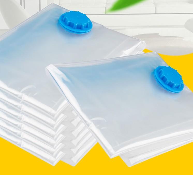 home Convenient Vacuum Bag Storage  Organizer Transparent Clothes Organizer Seal Compressed travel Saving Space Bags Package 6